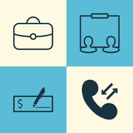 Human Icons Set. Collection Of Briefcase, Presentation, Payment And Other Elements. Also Includes Symbols Such As Man, Publicity, Suitcase. Illustration
