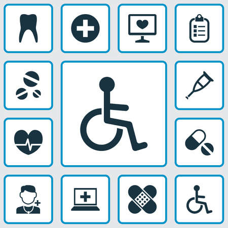 Collection Of Pills, Mark, Medicine, Diagnosis And Other Elements icons Set. Imagens - 85980482