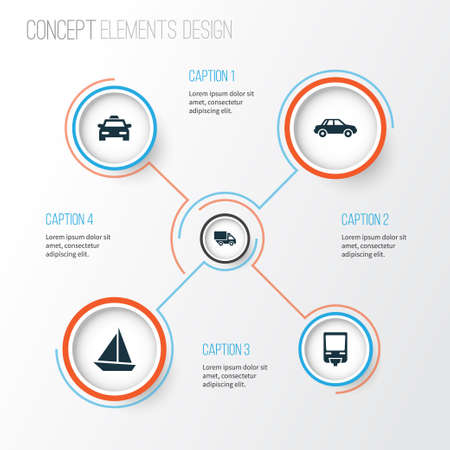 Shipment Icons Set. Collection Of Van, Railroad, Yacht And Other Elements