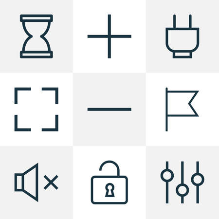 User Outline Icons Set. Collection Of Goal, Add, Remove And Other Elements Illustration