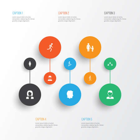 Person Icons Set. Collection Of Family, Jogging, Ladder And Other Elements. Also Includes Symbols Such As Businessman, Jogging, Climbing.