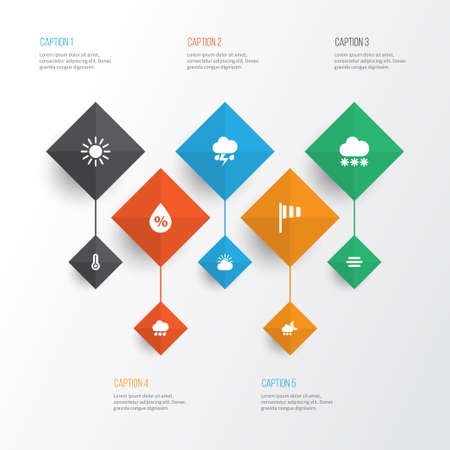 Air Icons Set. Collection Of Moisture, Temperature, Flag And Other Elements