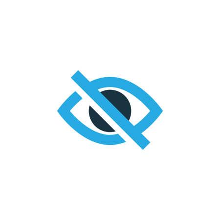 Hide Colorful Icon Symbol. Illustration