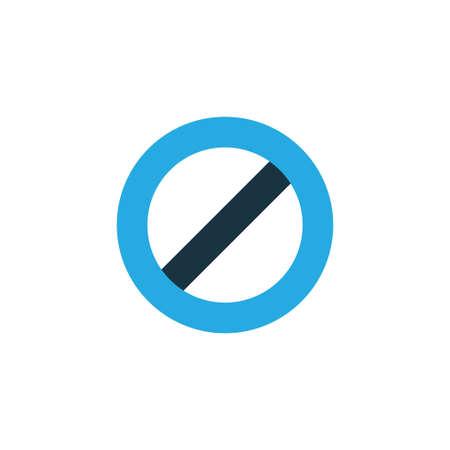 Ban Colorful Icon Symbol. Illustration