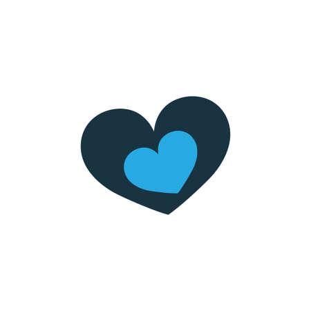 形のカラフルなアイコンのシンボル。プレミアム品質は、トレンディなスタイルのロマンチックな要素を分離しました。