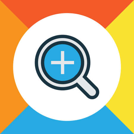 Magnifier Colorful Outline Symbol. Premium Quality Isolated Zoom In Element In Trendy Style. Illustration