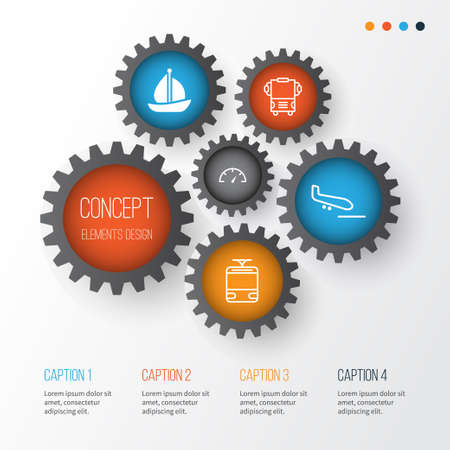 Shipping Icons Set, Collection Of Plane Arrival, Speed Checker, Sailboat And Other Elements