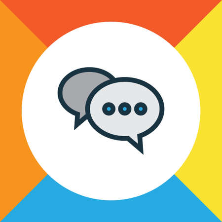 Comment Colorful Outline Symbol. Premium Quality Isolated Chatting Element In Trendy Style.
