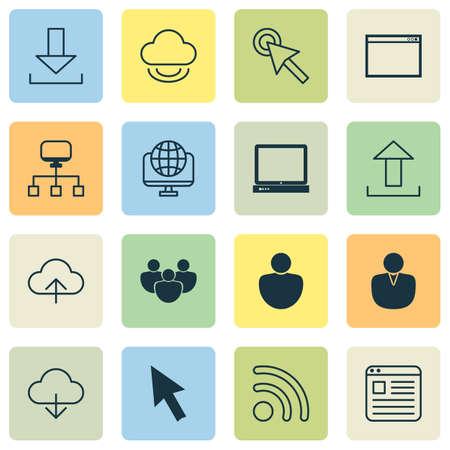 Internet Icons Set.