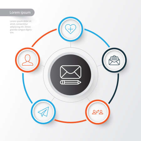 Communication Icons Set. Collection Of Edit, Startup, Add And Other Elements Illustration