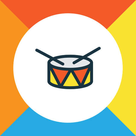 Premium Quality Isolated Barrel Element In Trendy Style Drum Colorful Outline Symbol Illustration