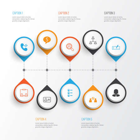 Resources Icons Set. Collection Of Talking, Job Applicants, Hierarchy And Other Elements