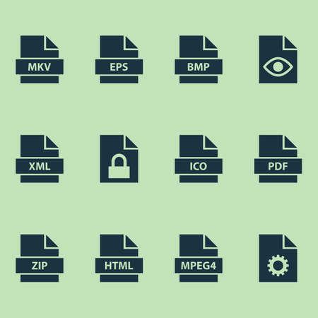 タイプのアイコンを設定します。保護、構成、Xml およびその他の要素のコレクション