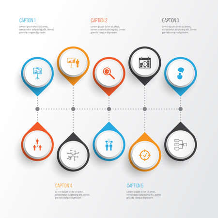Authority Icons Set. Collection Of Co-Working, System Structure, Approved Target And Other Elements. Also Includes Symbols Such As Connection, Team, Statistic. Illustration