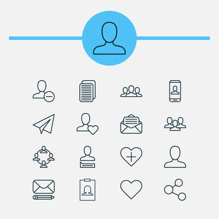 addition: Communication Icons Set. Collection Of Badge, Team Organisation, Follow And Other Elements