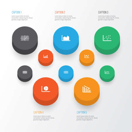 economic cycle: Set Of Graphs, Diagrams And Statistics Icons. Premium Quality Symbol Collection Illustration