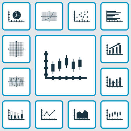 candle: Set Of Graphs, Diagrams And Statistics Icons. Premium Quality Symbol Collection Illustration
