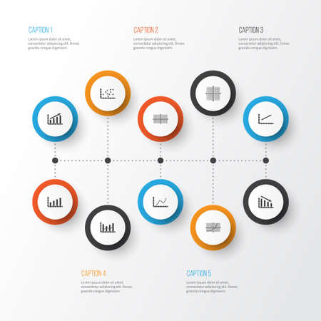 Set Of Graphs, Diagrams And Statistics Icons