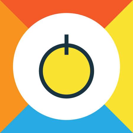 Start Colorful Outline Symbol Illustration