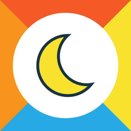 A lunar colorful outline symbol. Premium quality isolated moonbeam element in trendy style. Illustration