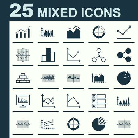 schemes: Set Of Graphs, Diagrams And Statistics Icons. Premium Quality Symbol Collection Illustration