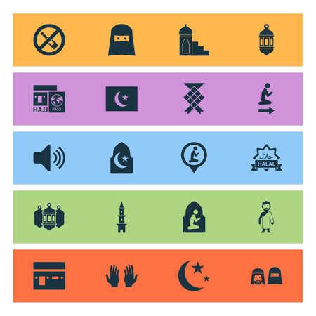 Religion icons set vector illustration.