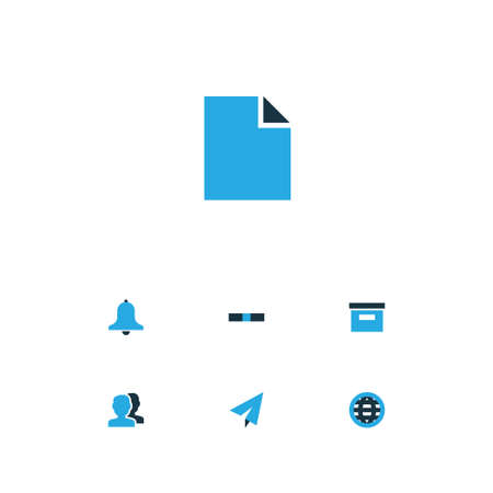 User Colorful Icons Set. Collection Of People, Storage, Origami And Other Elements. Also Includes Symbols Such As Chancery, Archive, Base. Illustration