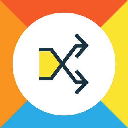 Shuffle Colorful Outline Symbol. Premium Quality Isolated Randomize Element In Trendy Style. Illustration