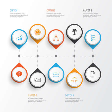 Management Icons Set. Collection Of Goal, Personal Badge, Team Structure And Other Elements Illustration