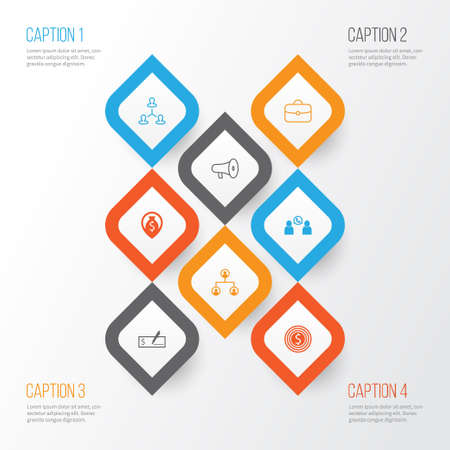 Human Icons Set. Collection Of Hierarchy, Partnership, Navigation And Other Elements Illustration