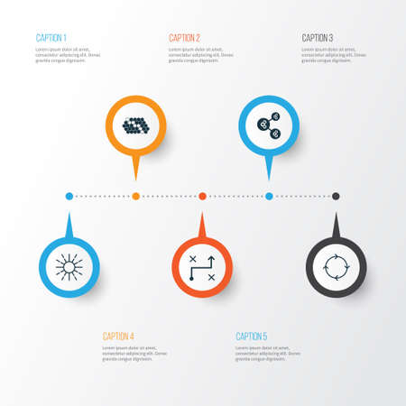 Robotics Icons Set. Collection Of Recurring Program, Lightness Mode, Hive Pattern And Other Elements