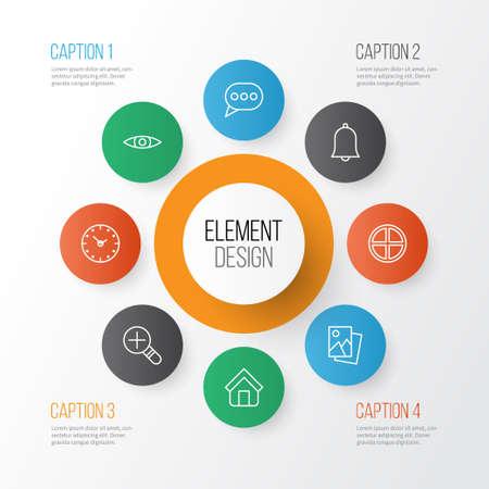 웹 아이콘을 설정합니다. 부동산, 시간, 긍정적 및 기타 요소의 수집