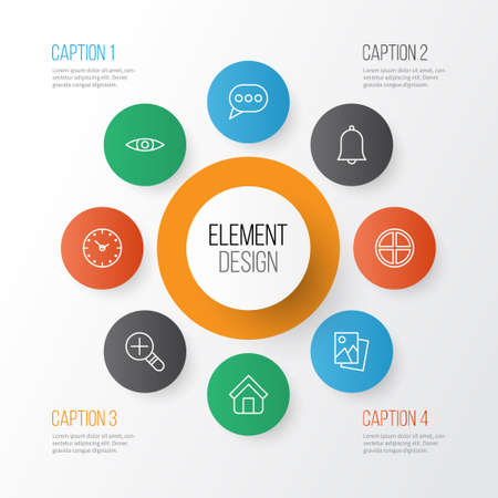 Web Icons Set. Collection Of Estate, Time, Positive And Other Elements Illustration