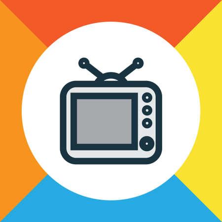 old pc: Tv Colorful Outline Symbol.