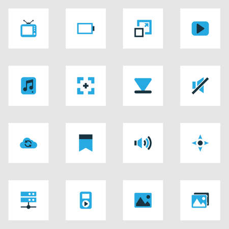Music colorful icons set.