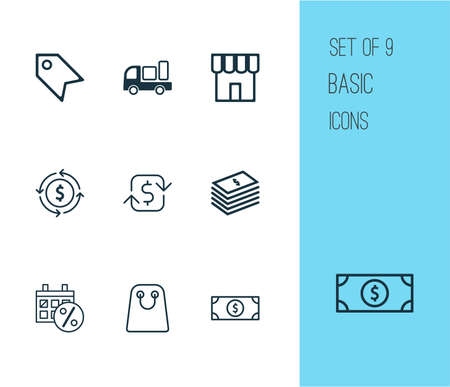 Collection of delivery, recurring payments, black friday and other elements. Ilustrace