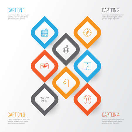 Collection of lamppost, travel direction, cardinal direction and other elements.