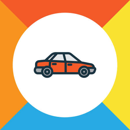 Sedan colorful outline symbol. Premium quality isolated car element in trendy style.