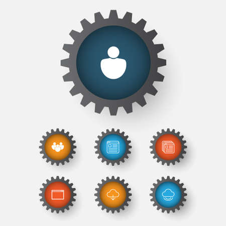 Internet icons set. Collection of program, team, user and other elements. Illustration