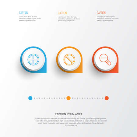 wap: Web icons set. Collection of positive, obstacle, zoom out and other elements. Illustration
