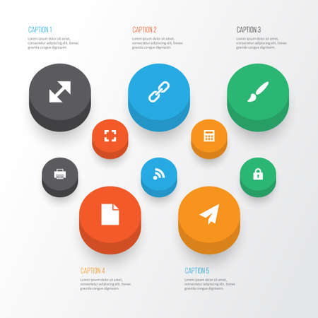 User Icons Set. Collection Of Origami, Wifi, Folder And Other Elements. Also Includes Symbols Such As Chain, Wifi, Resize.