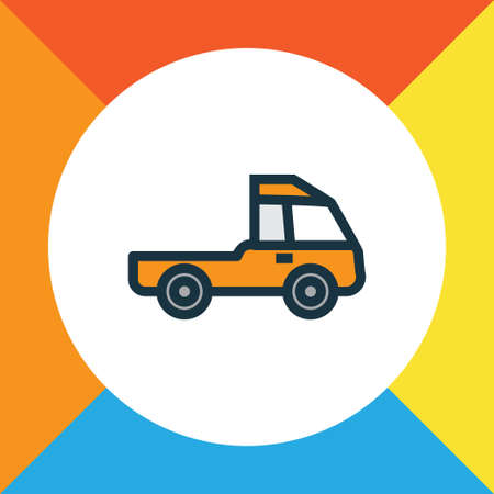 Prime-Mover Colorful Outline Symbol. Premium Quality Isolated Pickup  Element In Trendy Style.