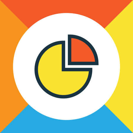 economic cycle: Pie Chart Colorful Outline Symbol. Premium Quality Isolated Circle Stats Element In Trendy Style.