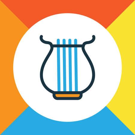 Harp icon. Illustration