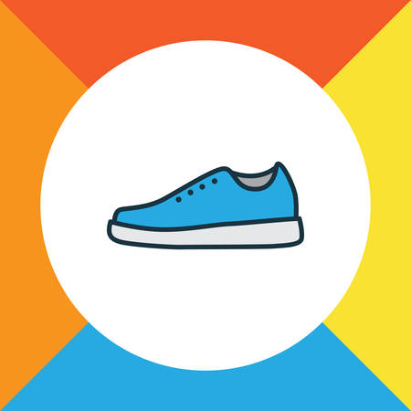 Premium Quality Isolated Sneakers Element In Trendy Style Illustration
