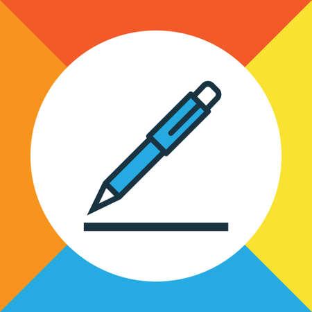 Pen Colorful Outline Symbol