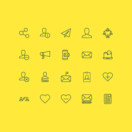 Network Icons Set. Collection Of Business Exchange, Phone Messaging, Follow And Other Elements 일러스트