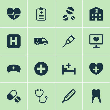 Medicine Icons Set Banco de Imagens - 88246738