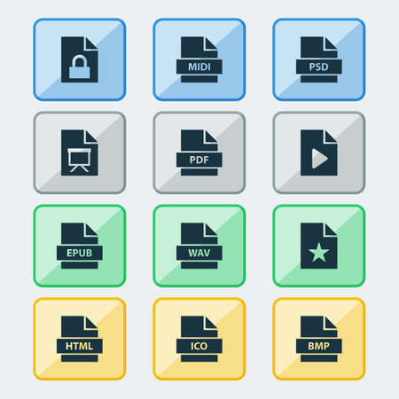 File Icons Set Ilustrace