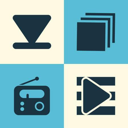 Media Icons Set Çizim